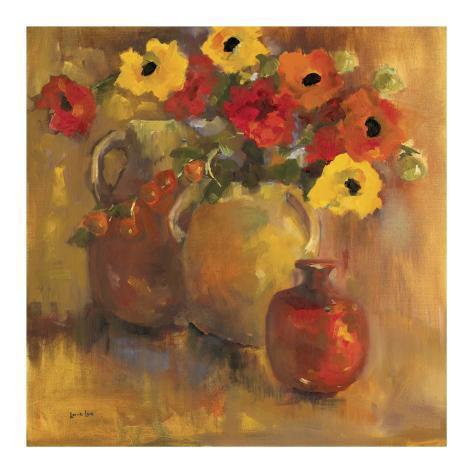 Red And Yellow Poppies Reproduction d'art