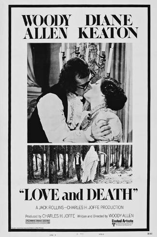 Love and Death, Woody Allen, Diane Keaton, 1975 Reproduction d'art