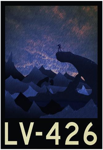 LV-426 Retro Travel Poster Poster