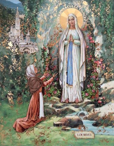 Madonna Di Lourdes Reproduction d'art