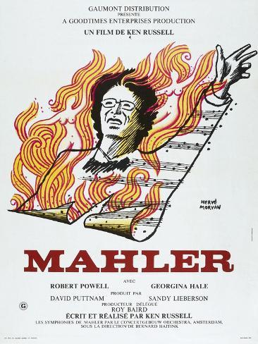 MAHLER, French poster, Robert Powell, 1974 Reproduction d'art
