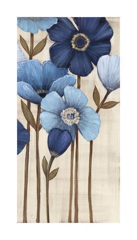 Fleurs Bleues II Reproduction procédé giclée