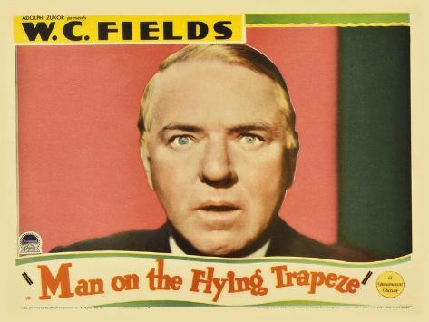Man on the Flying Trapeze, 1935 Reproduction d'art