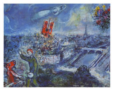 Vue de Paris Reproduction d'art
