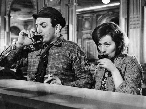 Annie Girardot et Lino Ventura : Le Bateau d'Emile, 1962 Reproduction photographique