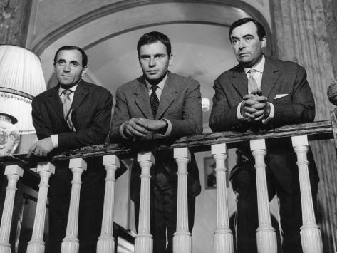 Charles Aznavour, Etienne Bierry et Jean-Louis Trintignant : Horace 62, 1962 Reproduction photographique