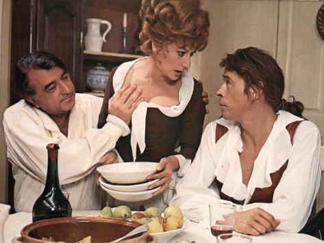 Jacques Brel, Armand Mestral et Rosy Varte : Mon Oncle Benjamin, 1969 Reproduction photographique
