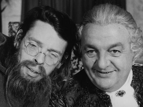 Jacques Brel et Bernard Blier : Mon Oncle Benjamin, 1969 Reproduction photographique