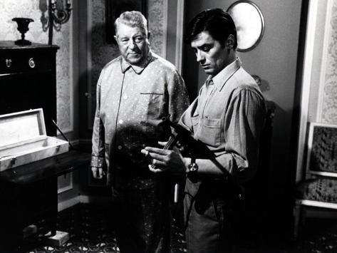 Jean Gabin et Alain Delon : Mélodie en sous-sol, 1963 Reproduction photographique