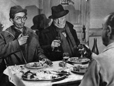 Jean Gabin et Darry Cowl : Archimède, Le Clochard, 1959 Reproduction photographique