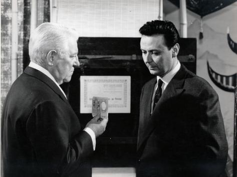 Jean Gabin et Maurice Biraud : Le Cave Se Rebiffe, 1961 Reproduction photographique