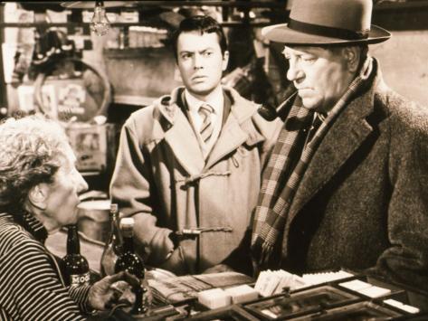 Jean Gabin et Robert Hirsch : Maigret et l'Affaire Saint-Fiacre, 1959 Reproduction photographique