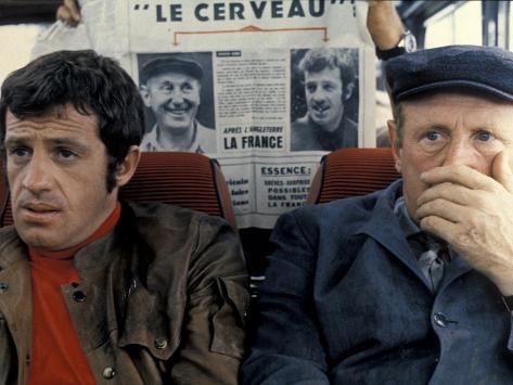 Jean-Paul Belmondo et Bourvil : Le Cerveau, 1969 Reproduction photographique