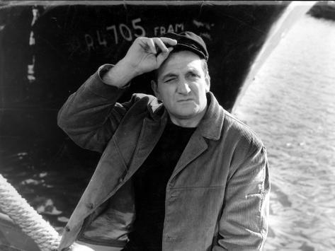 Lino Ventura : Le Bateau d'Emile, 1962 Reproduction photographique