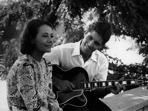 Sacha Distel et Annie Girardot : La Bonne Soupe, 1963 Reproduction photographique
