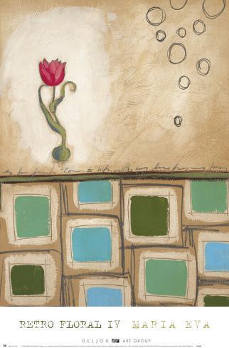 Fleur rétro IV Reproduction d'art