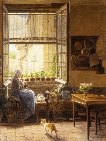 A Quiet Afternoon, 1917 Reproduction procédé giclée