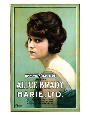 Marie, Ltd. - 1919 Reproduction procédé giclée