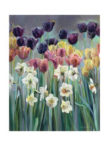 Champ de tulipes Reproduction d'art