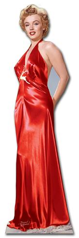 marilyn monroe red gown lifesize standup silhouettes