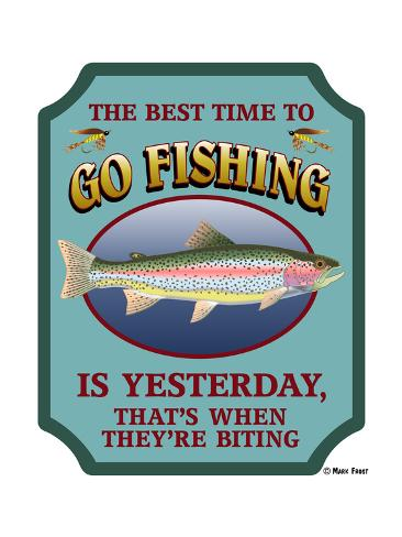 Best time to go fishing reproduction proc d gicl e par for What is the best time to go fishing