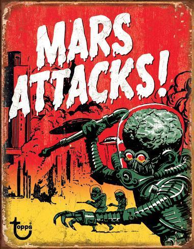 Mars Attacks Plaque en métal