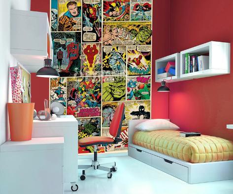 marvel comics papier peint mural papier peint sur. Black Bedroom Furniture Sets. Home Design Ideas