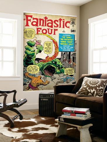 Marvel Comics Retro: Fantastic Four Family Comic Book Cover No.1 (aged) Autre