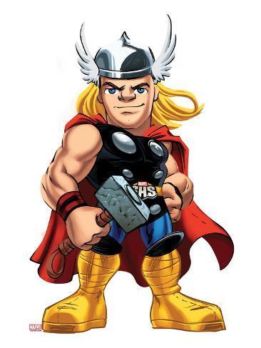 marvel super hero squad thor standing poster sur