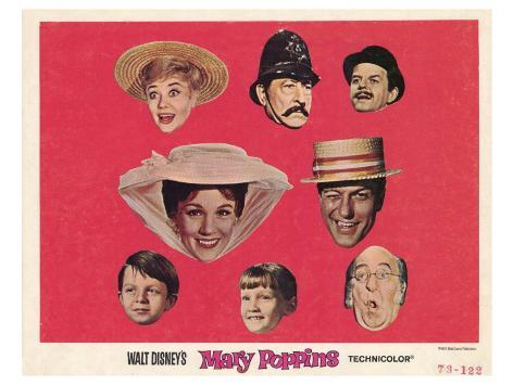 Mary Poppins, 1964 Reproduction d'art