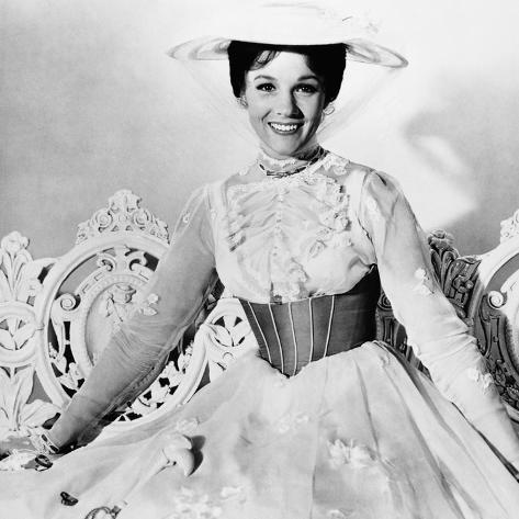Mary Poppins, Julie Andrews, 1964 Photographie