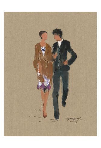 Business Couple Reproduction d'art
