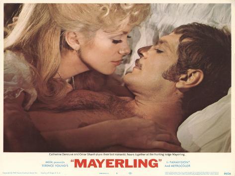 Mayerling, film de Terence Young, avec Catherine Deneuve, 1968 : affiche Reproduction d'art