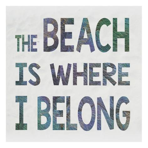 Beach Belonging Reproduction d'art