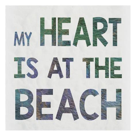 Beach Heart Reproduction d'art