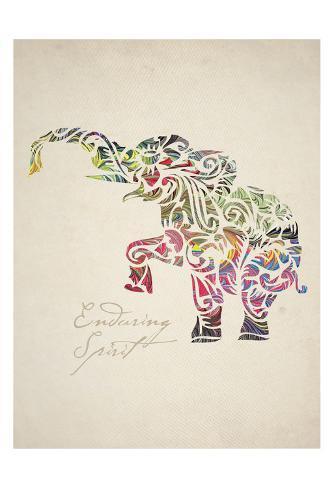 Elephant Set 02 Reproduction d'art
