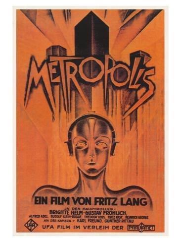 Metropolis, Brazilian Movie Poster, 1926 Reproduction d'art