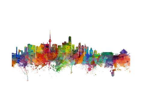 Beijing china skyline affiches par michael tompsett sur - Maison familiale design a beijing en china par arch studio ...
