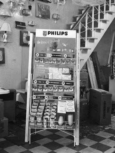 Philips Point Of Sale Stand For Light Bulbs 1962 Reproduction Photographique Par Michael