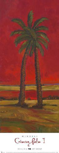 Palmier écarlateI Reproduction d'art