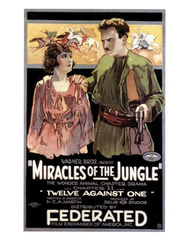 Miracles Of The Jungle - 1921 Reproduction procédé giclée