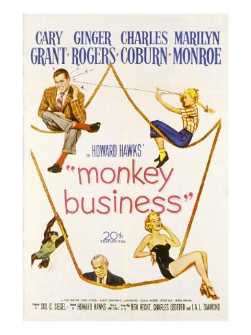 Monkey Business, Cary Grant, Ginger Rogers, Charles Coburn, Marilyn Monroe, 1952 Photographie