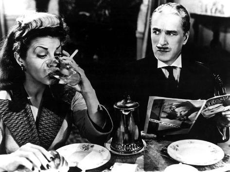 Monsieur Verdoux, Martha Raye, Charlie Chaplin, 1947 Photographie