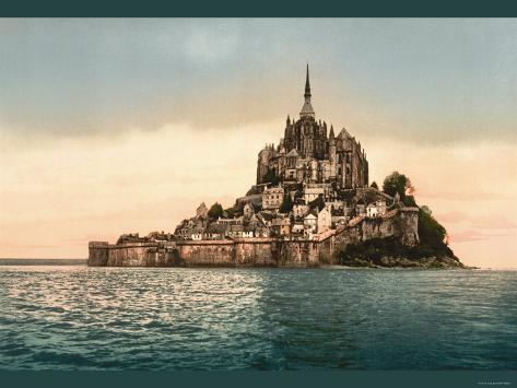 Mont St. Michel at High Tide Photographie
