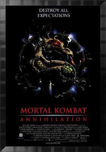 Mortal Kombat Affiche encadrée