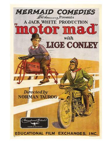 Motor Mad - 1924 Reproduction procédé giclée