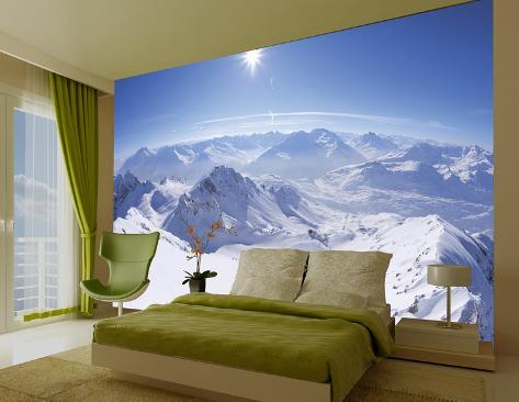Mountain papier peint mural papier peint sur for Poster decoratif mural