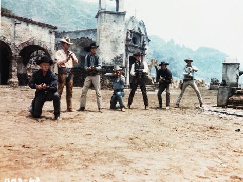 Magnificent Seven Cowboy's Gunfight in Movie Scene Photographie