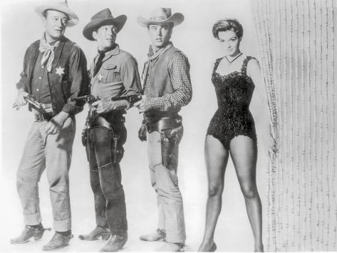Rio Bravo Group Picture in Black and White Photographie