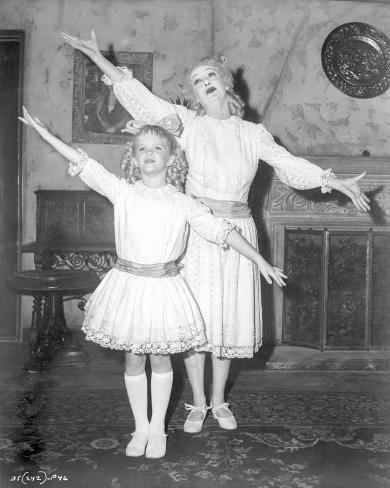 Whatever Happened To Baby Jane Girl and Woman in Same Dress Photographie